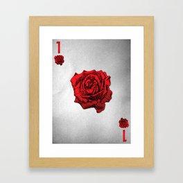 THE 1 OF ROSES  Framed Art Print