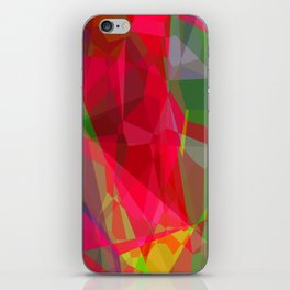 Pink Roses in Anzures 6 Abstract Polygons 3 iPhone Skin