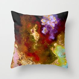 100 Starry Nebulas in Space 090 (Portrait) Throw Pillow