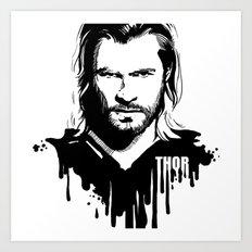 Fandom In Ink » Thor Art Print