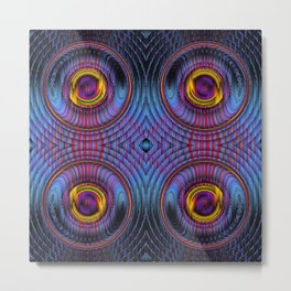 Turn It Up - Mandala Geometric Patterns Metal Print