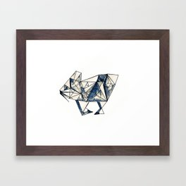 Diamond Bunny Framed Art Print