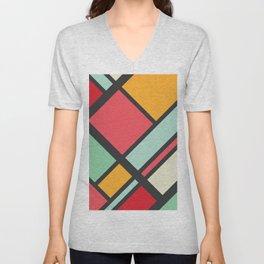 Kitschy Color Blocking Unisex V-Neck