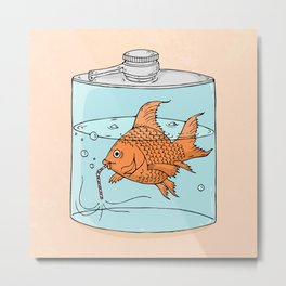 Drink like a fish Metal Print