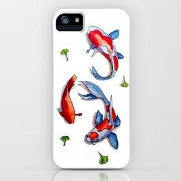 three kois iPhone Case