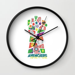 Avenger Infinity War Pop Art Wall Clock