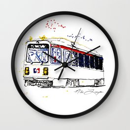 Septa Trolley Art: Philly Public Transportation Wall Clock
