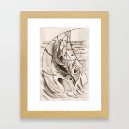 Caught in the net  Framed Art Print