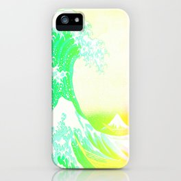 The Great Wave Rainbow iPhone Case