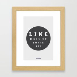 Line Height & Font Size (Solo) Framed Art Print