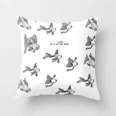Love: It's In the Eyes Throw Pillow