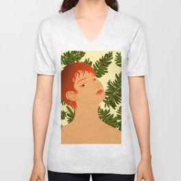 Leaf Me Be Unisex V-Neck