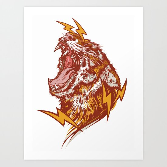 Tiger Shock Art Print