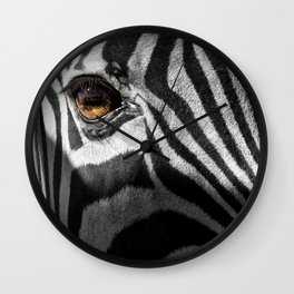 Zebra Eye Wall Clock