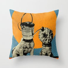 Cats&Dogs Throw Pillow