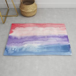 24     190907   Watercolor Abstract Painting Rug