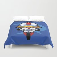 gizmo Duvet Covers featuring Hello Gizmo by Hoborobo