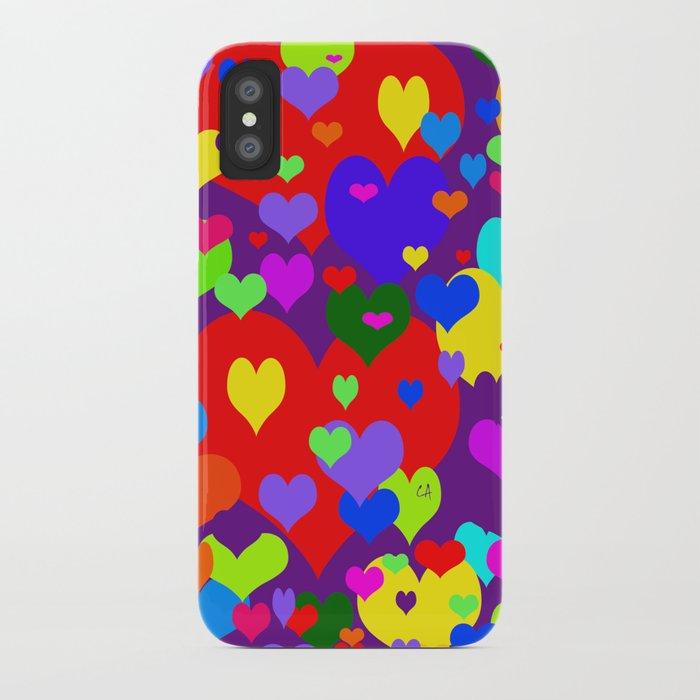 Mille coeurs gais iPhone Case
