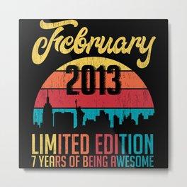 February 2013 Limited Edition Birthday Metal Print