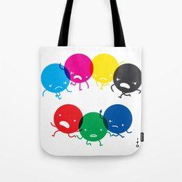 CMYK fights RGB Tote Bag