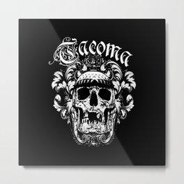 Tacoma Skull Metal Print