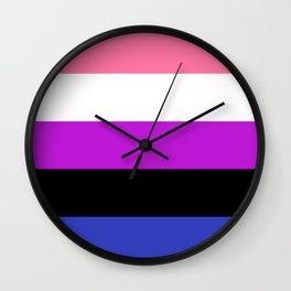 Genderfluid Pride Flag LGBTQ Flag Wall Clock