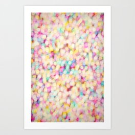 Candyfloss Bokeh Art Print