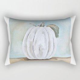 Tall white pumpkin Rectangular Pillow