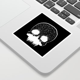 Mountains Skull Sticker