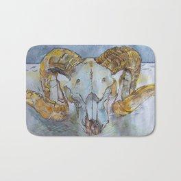 Big Horn Ram's Skull Bath Mat