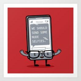 Not-So-Smart Phone Art Print