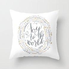Joy to the World Throw Pillow