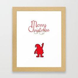 Merry Christmas with Santa Framed Art Print