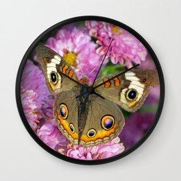 Common Buckeye Butterfly Wall Clock