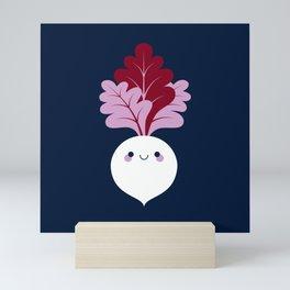 Cute white beetroots Mini Art Print