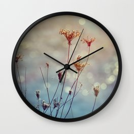 Soft Queen Anne's Lace and Bokeh Wall Clock