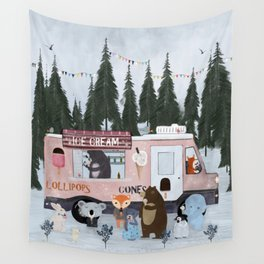 ice cream time Wall Tapestry