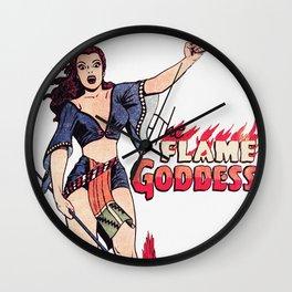 The Flame Goddess Wall Clock