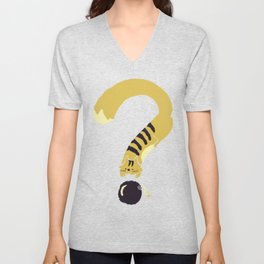 Question Mark (Curiosity Kills The Cat) Unisex V-Neck