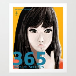 365 Days of Sketches #128 Art Print