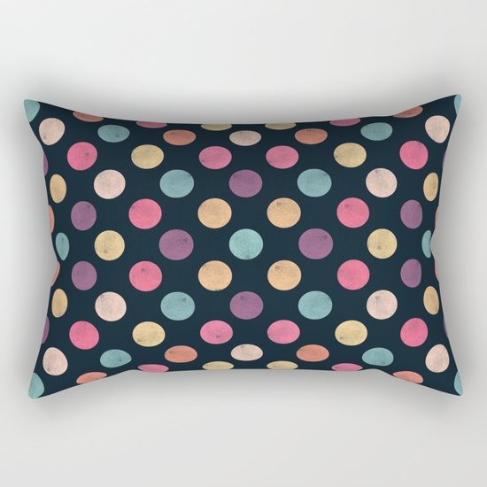 Watercolor Dots Pattern II Rectangular Pillow
