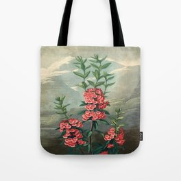 Pink Floral The Narrow-leaved Kalmia : Temple of Flora Tote Bag