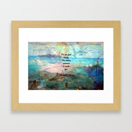 Rumi Inspiration Quote About The Universe With Beautiful Ocean Art Framed Art Print