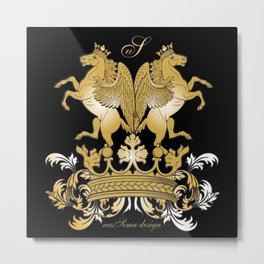 The Royal Horses (Black) Collection Metal Print