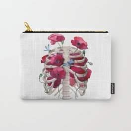 Rib cage with poppy Carry-All Pouch