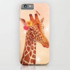 Giraffe and the stars iPhone 6 Slim Case