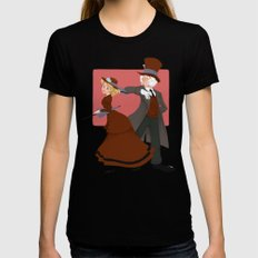 Valentine Black Womens Fitted Tee LARGE