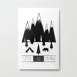 Hiking Metal Print