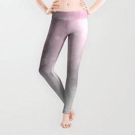 Pink  Grey Soft Gradient Bokeh Lights Leggings