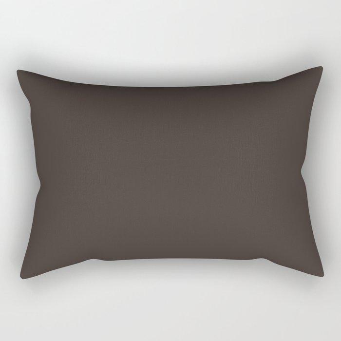 High Mileage ~ Bark Brown Rectangular Pillow